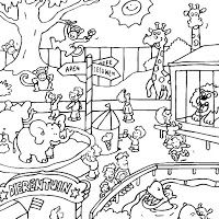Zoo Drawings Coloring Pages Zoo Coloring Pages Zoo Animal
