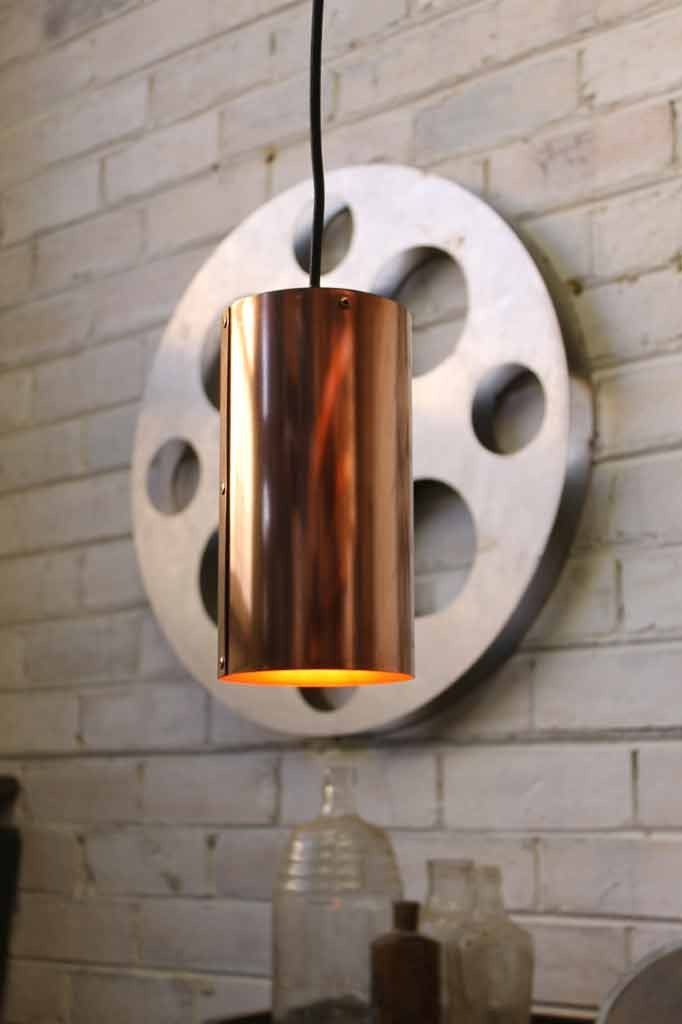 Metallic Pendant Light with LED filament bulb