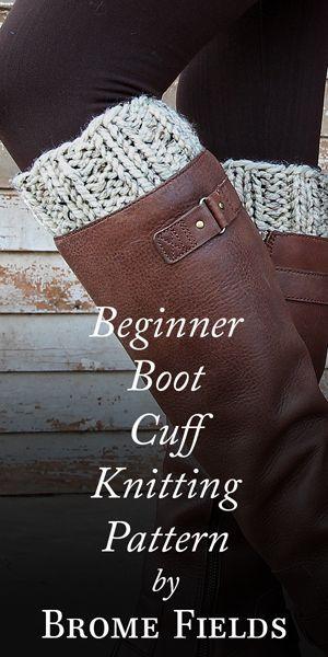 Beginner Boot Cuff Knitting Pattern Knitting Pinterest