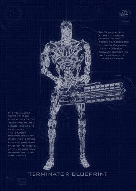 Terminator Blueprint | Displate thumbnail