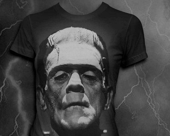 Frankenstein Womens Tshirt by vortextradingcompany on Etsy, $24.00