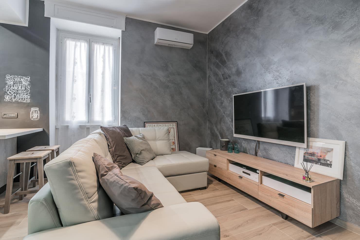 Photo of Open plan living room modern living room easy to renovate modern   homify