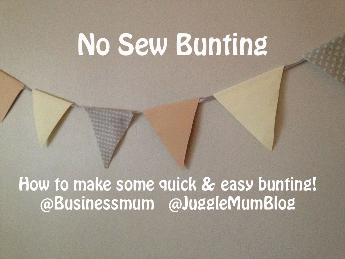 How to make quick easy bunting buntings easy and crafts heres a great craft project that you can do in minutes by yourself or as a solutioingenieria Images