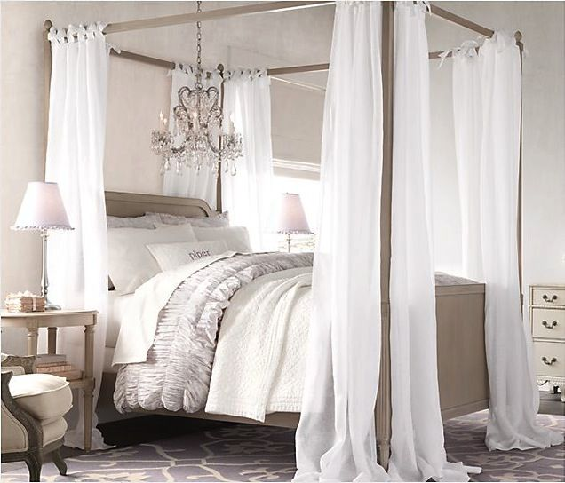 How To Use A Four Poster Bed Canopy To Good Effect: Nursery, Child + Teen
