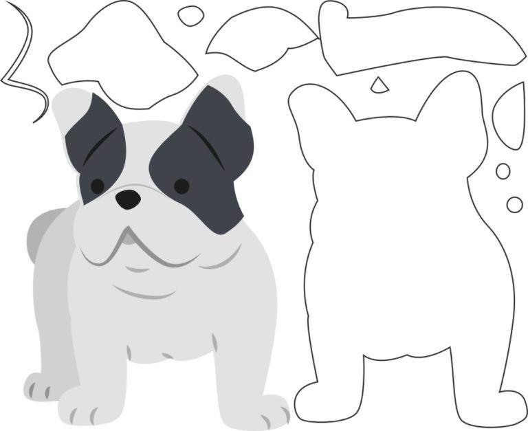 plantilla de animales elaboración de tarjetas perro de la plantilla Bulldog plantilla plantilla de artesanía