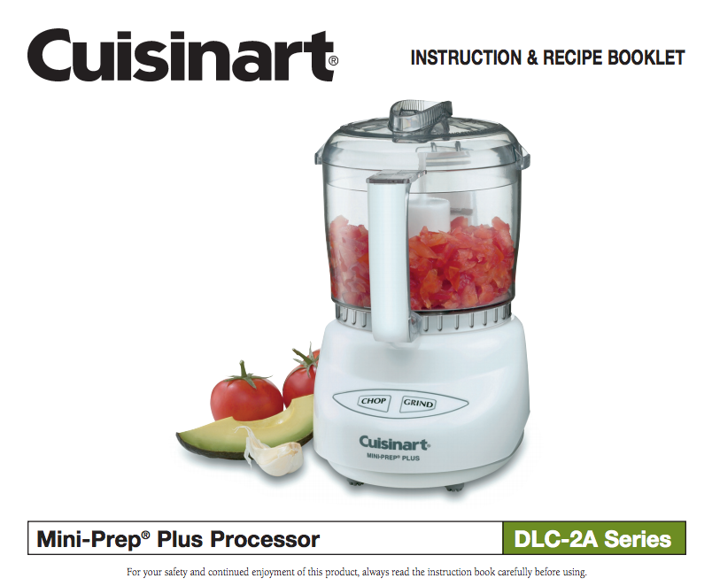 Mini prep plus processor dlc 2a product manual food processor mini prep plus processor dlc 2a product manual forumfinder Image collections
