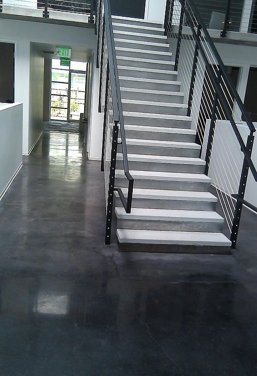 Stainedconcretefloors Custom Stairs Commercial Floors By National Concrete Polishing Stained Concrete Flooring Contractor Concrete Floors