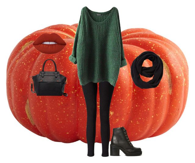 """Fall"" by maddyb202 ❤ liked on Polyvore featuring Miss Selfridge, Jeffrey Campbell, Lime Crime, Pink Haley, John Lewis and pumpkin"