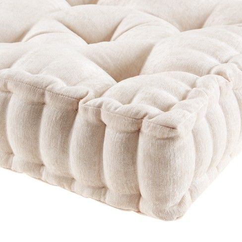 Ivory Square Floor Pillow Cushion 20 X20 Square Floor Pillows Floor Pillows Floor Cushions