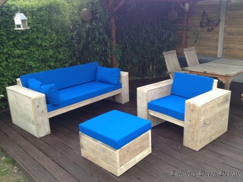 Loungemöbel aus bauholz. Lounge-Sofa, Lounge Stuhl und Tisch für ...