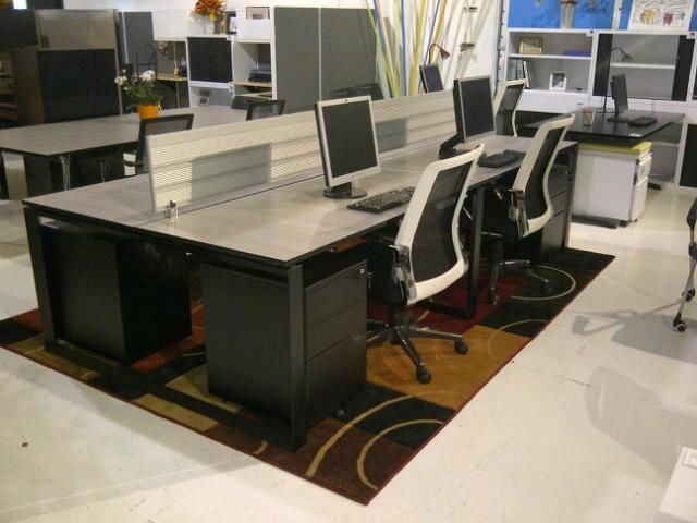 Quad Benching Workstations Several Laminated Tops To Choose From New Life Office Furniture 702 212 0407 Furniture Office Furniture Workstation