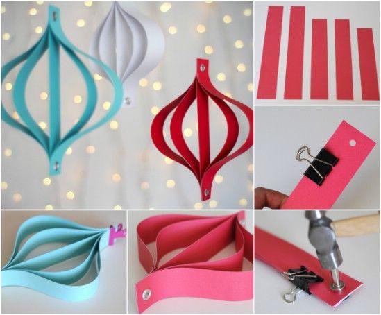 Modern Bulbs Christmas Tree Crafts, Christmas Paper, Origami Christmas  Ornament, Diy Ornaments, - 20 Hopelessly Adorable DIY Christmas Ornaments Made From Paper