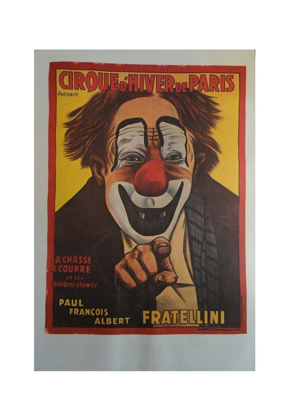 French Clown Poster