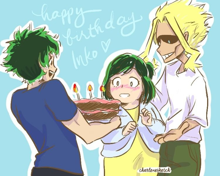 Inko S Birthday Is A National Holiday In America Of Course All Might Would Celebrate It With The Midoriya Hero Academia Characters My Hero Holidays In America