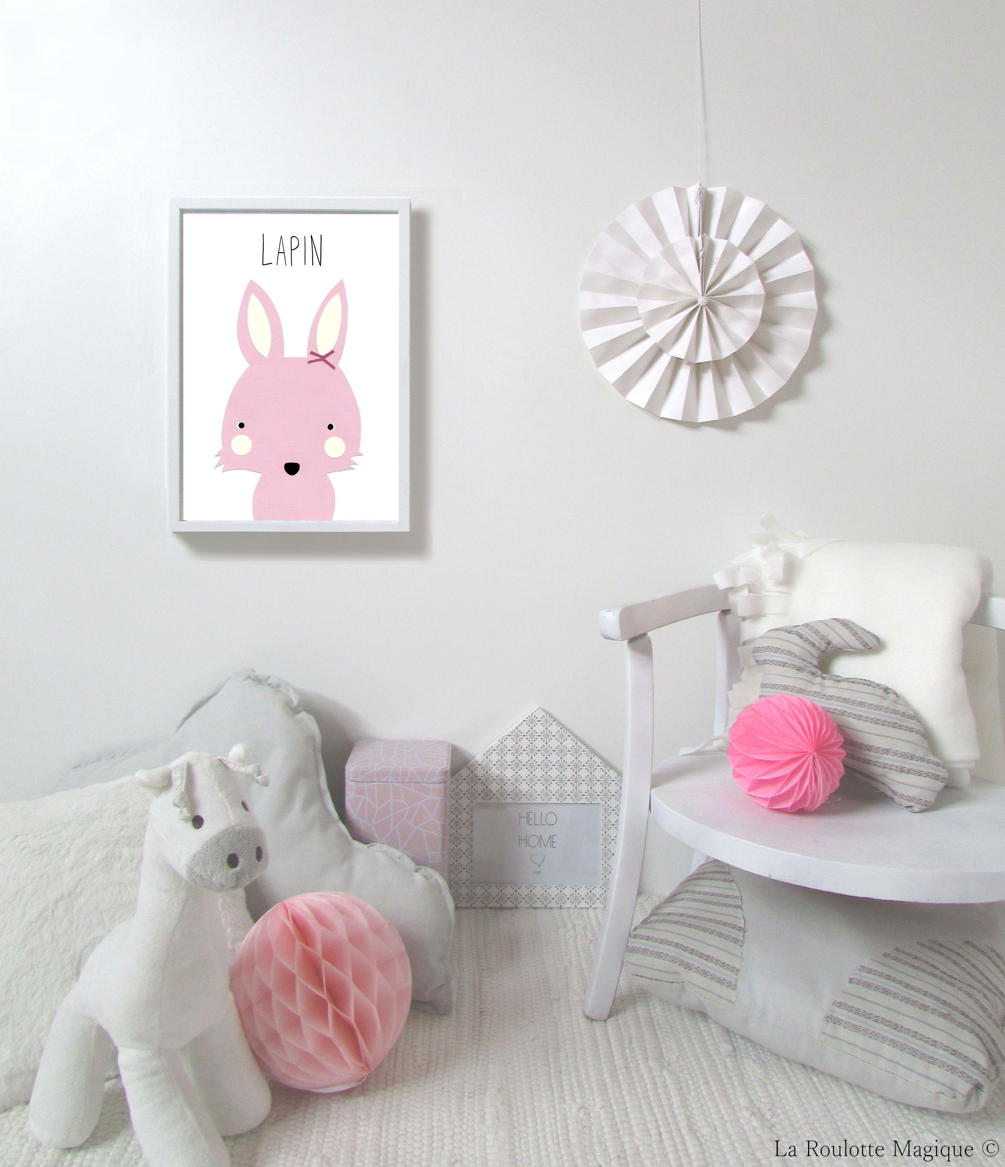 Affiche Lapin By La Roulotte Magique D Coration Pour Enfants