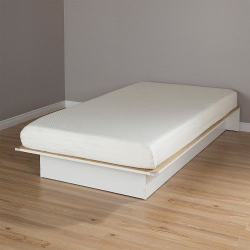 South Shore Libra Twin Platform Bed With 6 In Somea Mattress Pure White Twin Platform Bed Twin Mattress Mattress