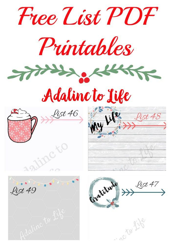 List Project Comforts And Ideal Holiday Season  Pdf Planners