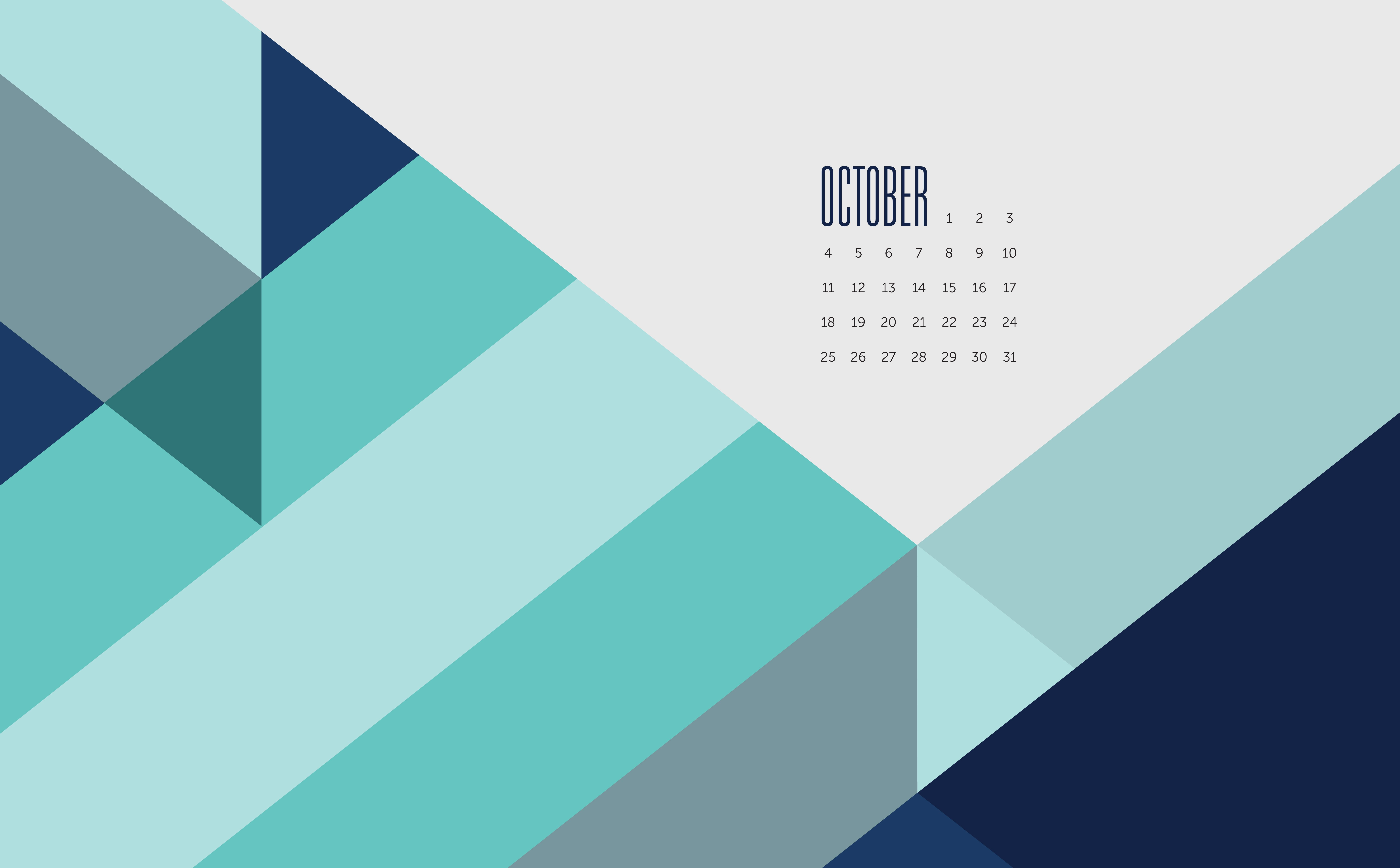 October Phone and Desktop wallpapers by May Designs