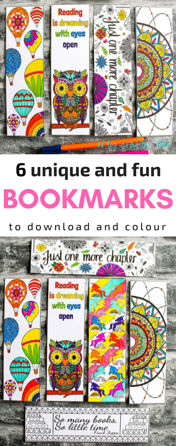 Pack Of Four Coloring Bookmarks Bookmarks Kids Free