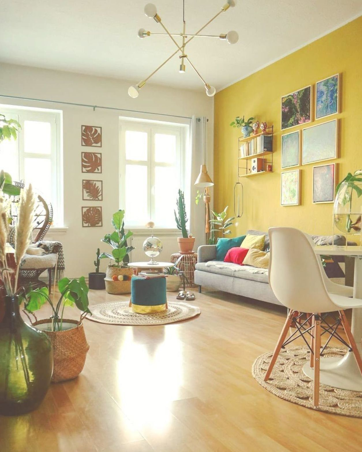 Image May Contain Table Plant Living Room And Indoor Yellow Walls Living Room Yellow Living Room Yellow Home Decor