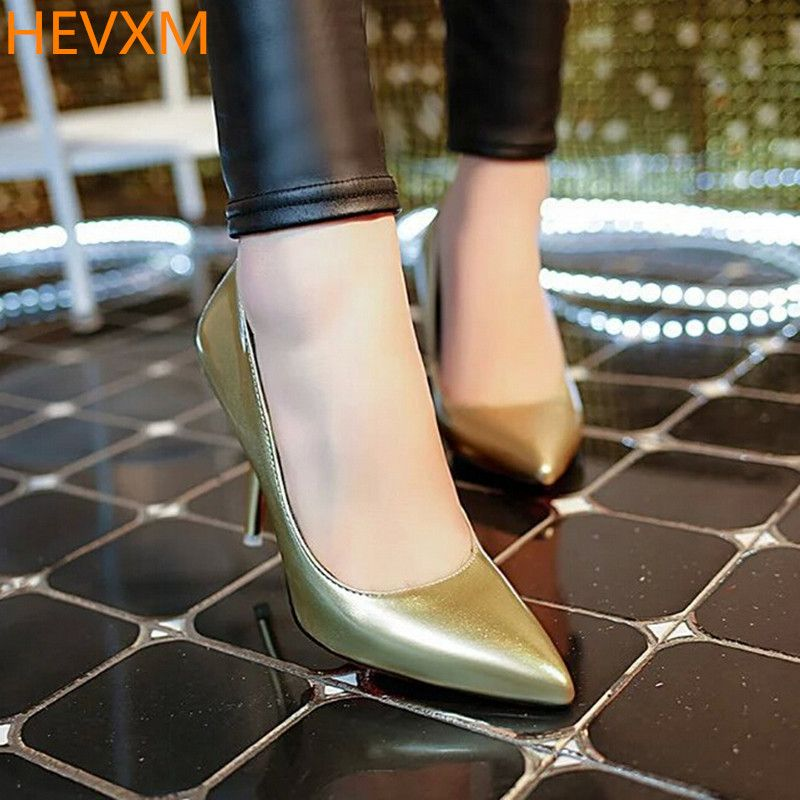 HEVXM Korean Version 2017 Spring Autumn Sexy Women Shoes Fashion Shallow Mouth Black High Heels Fine With Pointed Woman Pumps