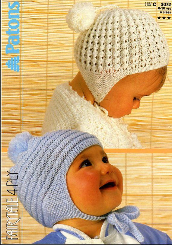 Vintage PDF Baby Knitting Pattern Patons 3072 by ...