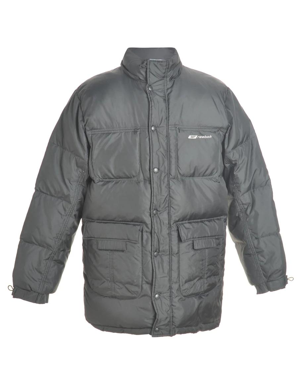 Men S Reebok 1990s Reebok Quilted Puffer Jacket Black L Beyond Retro E00608366 Quilted Puffer Jacket Puffer Jacket Black Puffer Jackets [ 1170 x 900 Pixel ]