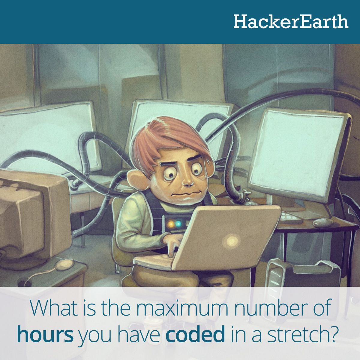 What is the maximum number of hours have you coded?