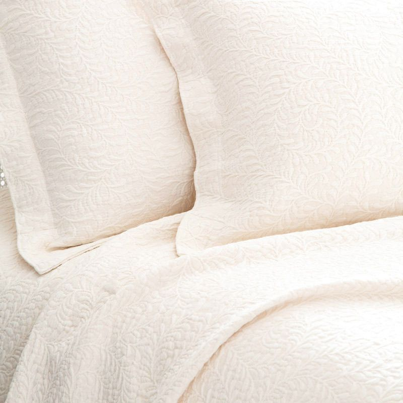 Pine Cone Hill Scramble Ivory Matelasse Coverlet