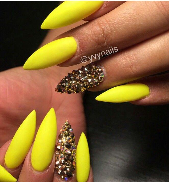 Yellow nails - Yellow Nails Nail Art Designs Pinterest Yellow Nails, Nail