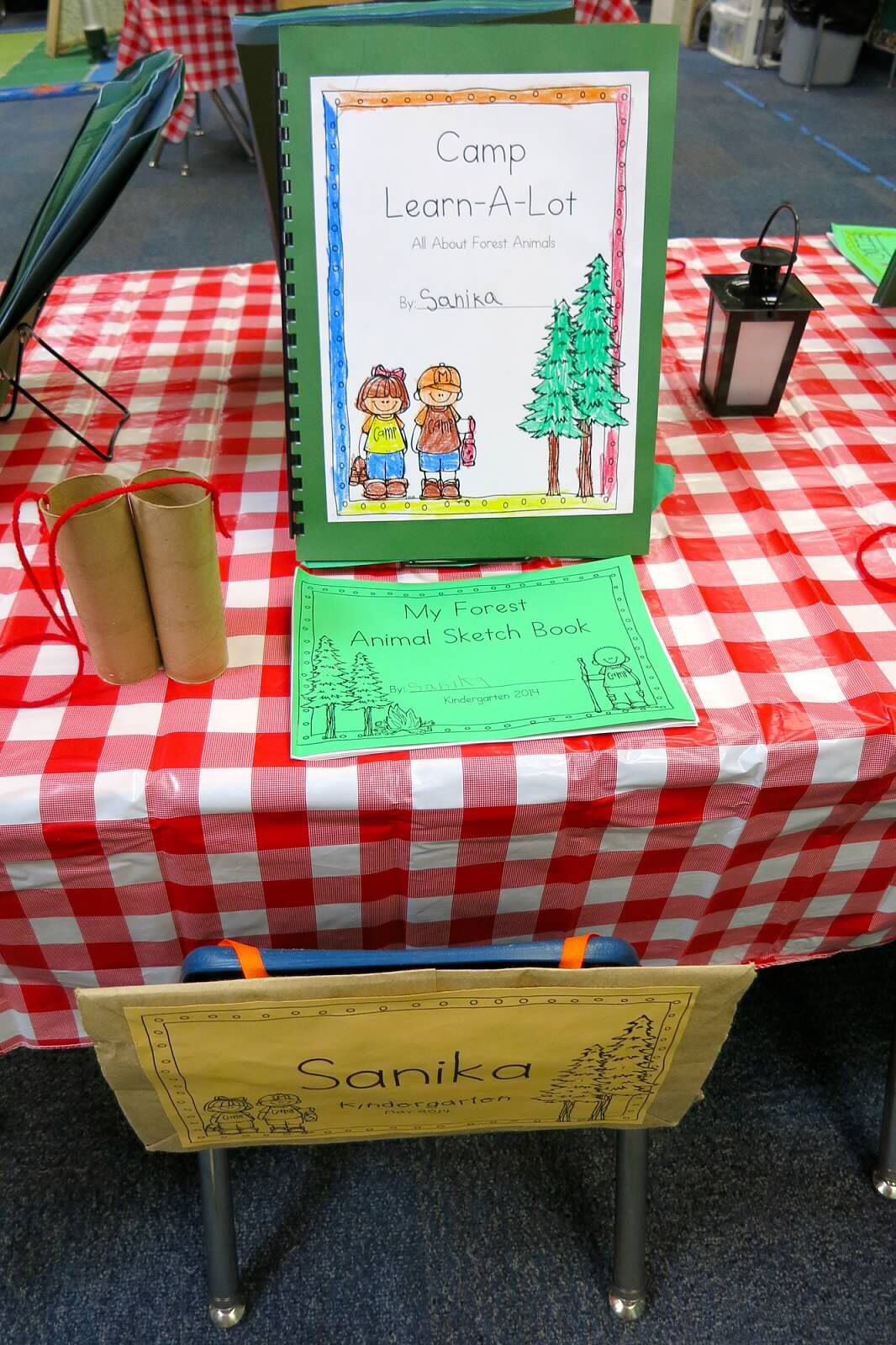 Classroom Decor Projects ~ Kindergarten open house camping theme