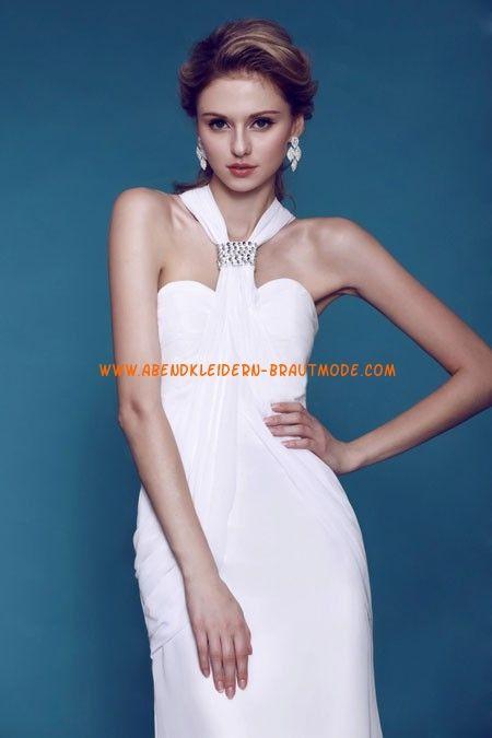 Schlichte Günstige Brautkleider aus Chiffonsatin Kolumne