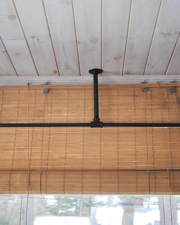 DIY BudgetFriendly Custom Corner Curtain Rod Corner
