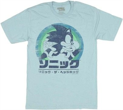 Sonic The Hedgehog Japanese T Shirt Sheer Roupas Geek Roupas
