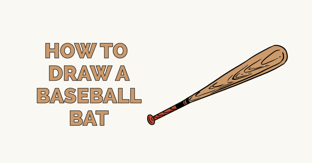 How To Draw A Baseball Bat Really Easy Drawing Tutorial Baseball Bat Baseball Bat Drawing Bat