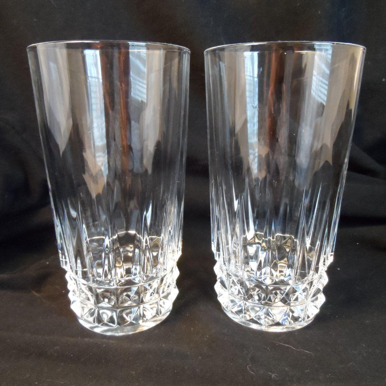 French Lead Crystal Wmdalton Verite Pattern 24% Lead Crystal Beverage Glasses By