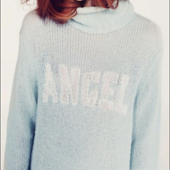 4bfc915742d7 Wildfox white label angel turtleneck sweater
