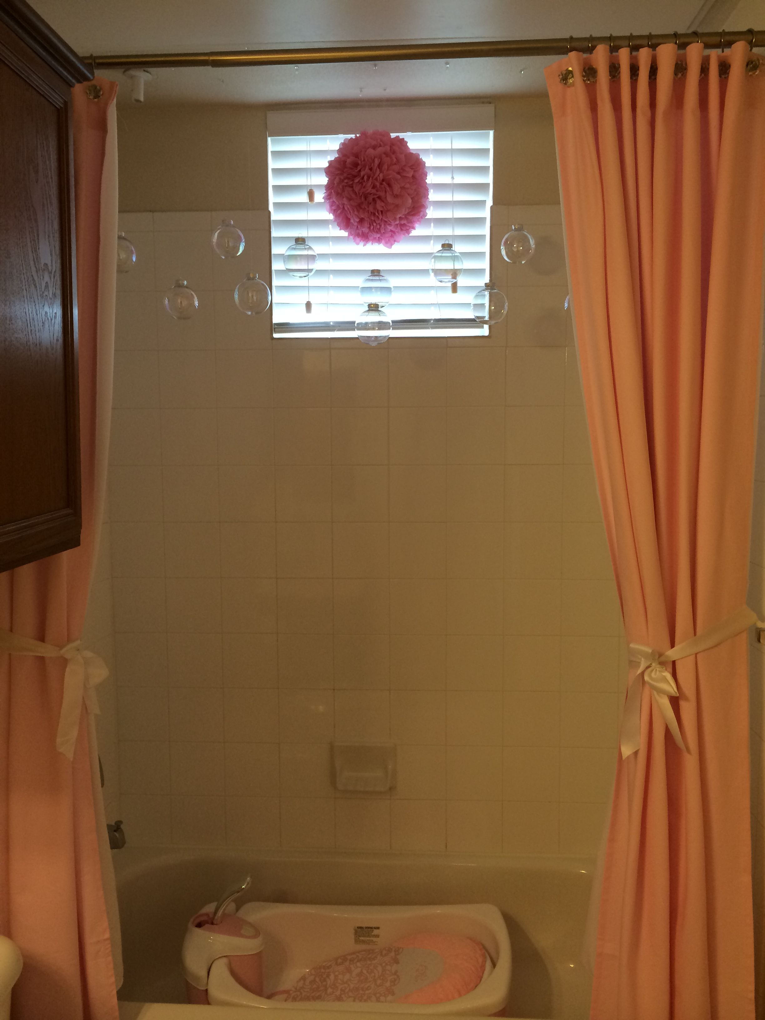 Baby S Bathroom 2 Curtain Panels Grommets Added To Make Into