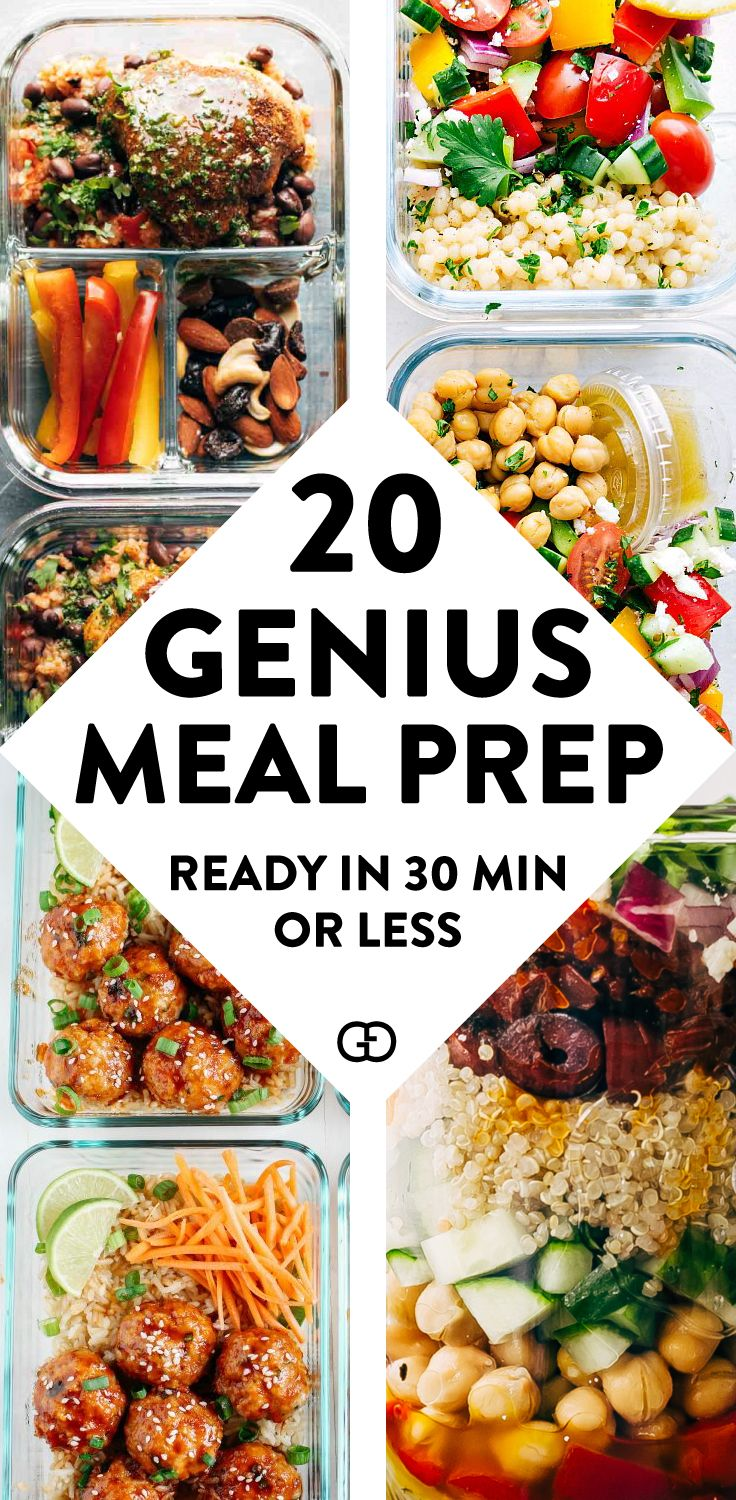 20 Genius Meal Prep For The Weeks images