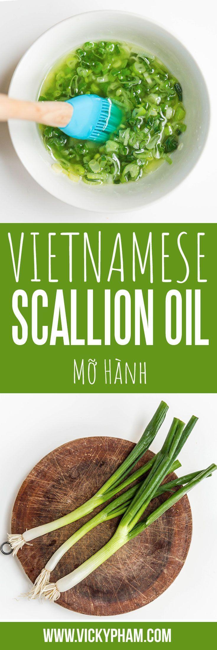Vietnamese Scallion Oil (Mo Hanh) Recipe Vietnamese
