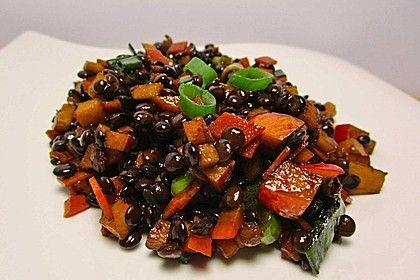 Belugalinsen-Salat mit Kürbiskernöl-Dressing von schaech001 | Chefkoch
