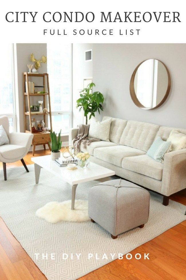 Condo makeover source list diy playbook small living roomsmodern living room designsminimalist