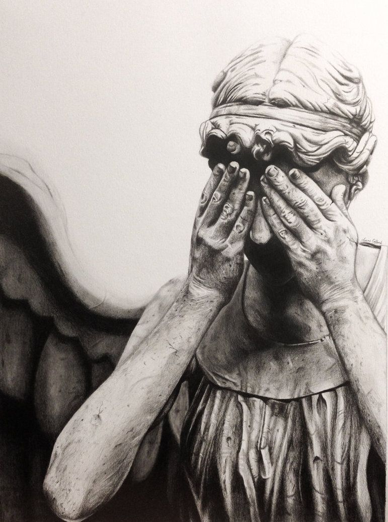 Weeping Angel Drawing by MyaWho on deviantART Angel