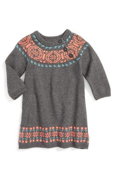 Tea Collection 'Nadia' Fair Isle Sweater Dress (Baby Girls)   Baby ...