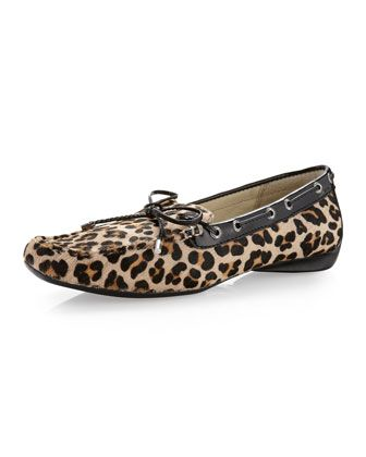 Sconset Leopard-Print Calf Hair Slip-On by Sperry Top-Sider at Last Call by Neiman Marcus.