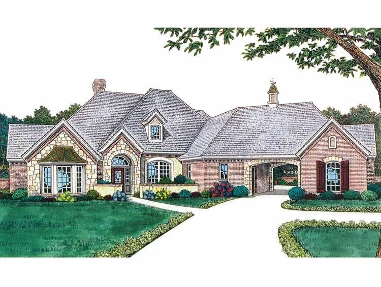 Eplans french country house plan european dream with for French country garage plans