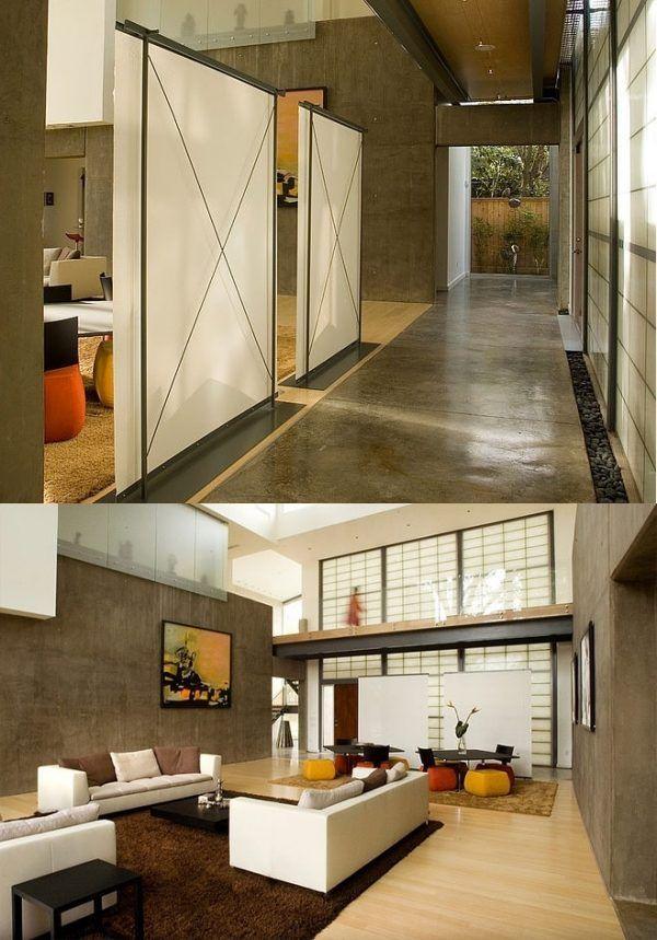 ... Wohnzimmer Schiebetur Dekoration Wohndesign ...