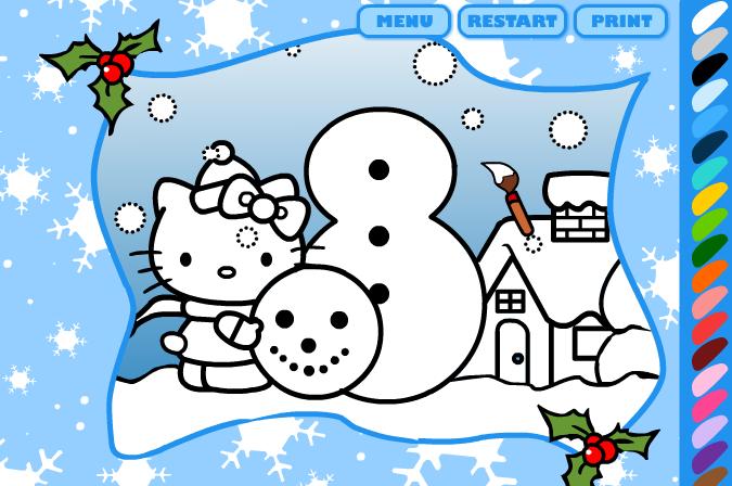 Kleur Jij Deze Hello Kitty Kleurplaat In Spelletjes Pinterest
