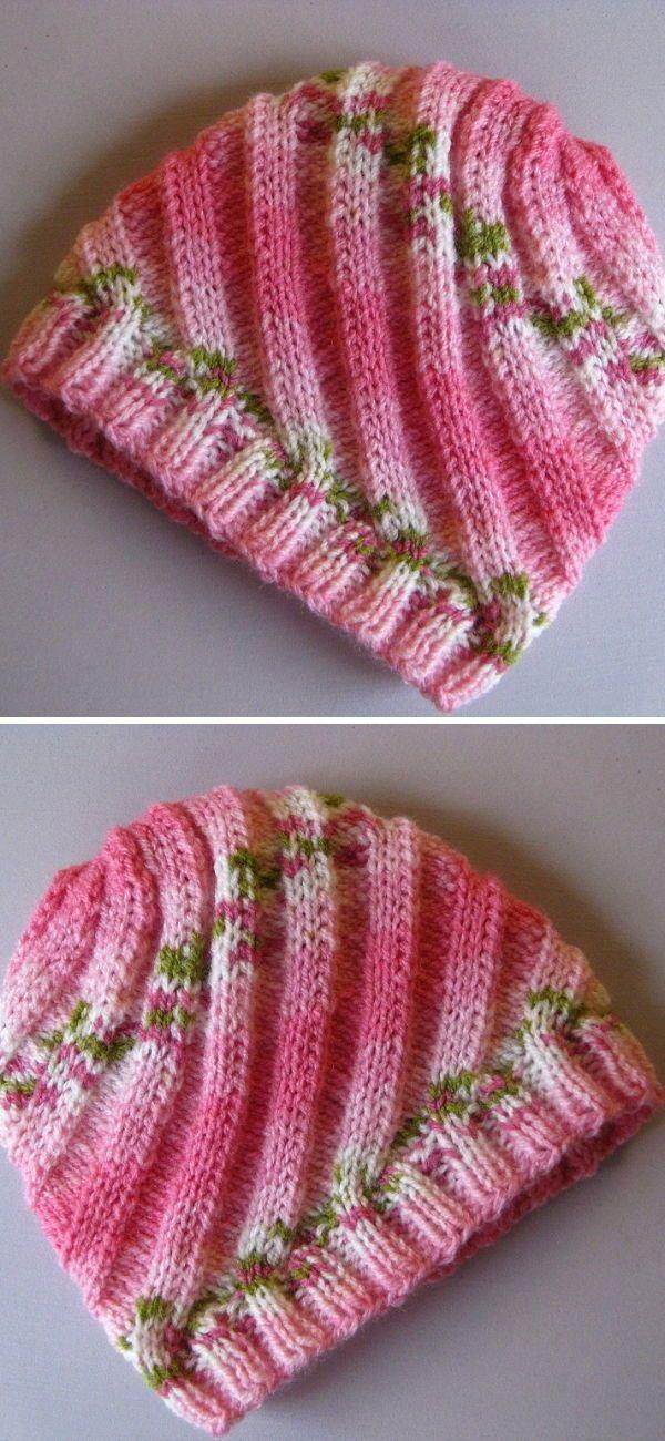 Photo of Swirl Hat Free Knitting Pattern