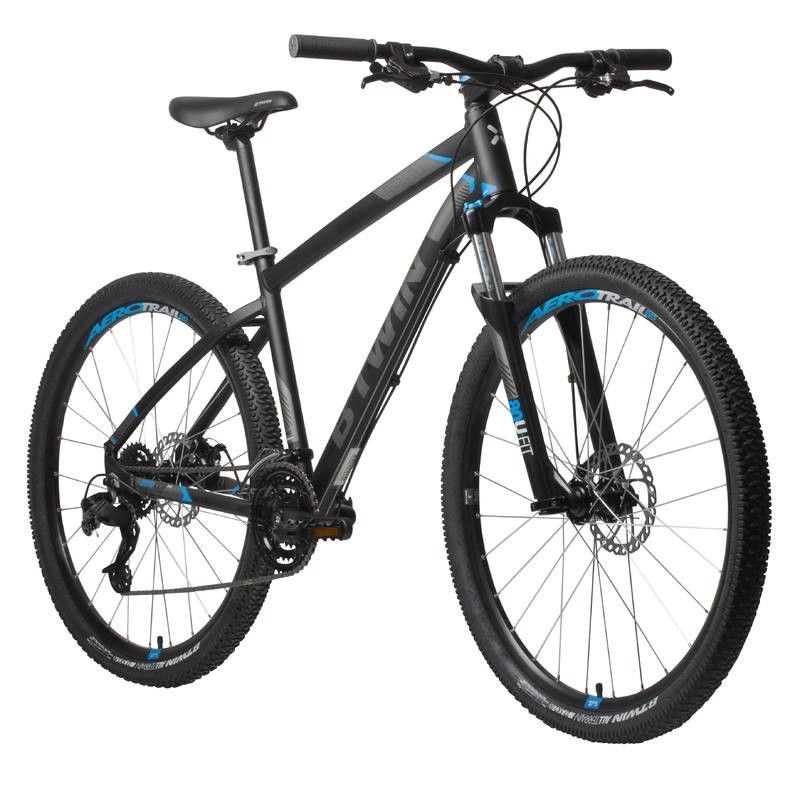 Velo Vtt St 520 Noir Bleu 27 5 Quote Bike Accesories Bicycle Mountain Biking